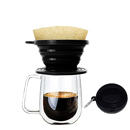 Better Filtration No Blowouts Made from Unbleached Imported Japanese Filter Paper Natural Brown #4 Cone Coffee Filters Paper Disposable for Pour Over and Drip Coffee Maker 100 Count