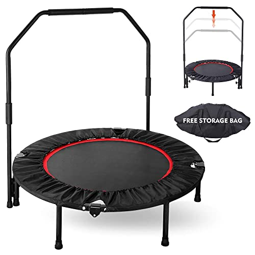 """40/"""" Foldable Mini Fitness Trampoline Rebounder Exercise Workout Indoor Outdoor"""