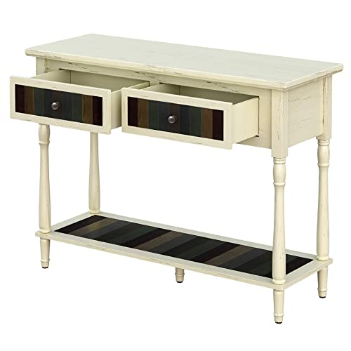 Console Table With 2 Large Colourful