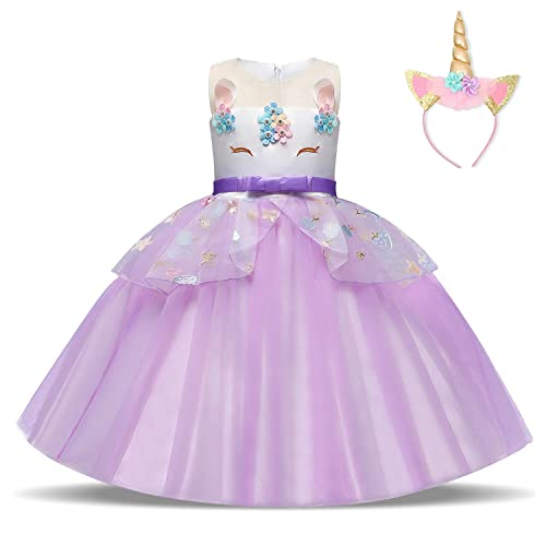 AmzBarley Princess Cinderella Dress for Girls Child Dressing up Costume Kids Fancy Party Outfit Halloween Birthday Cosplay Holiday Evening Dresses