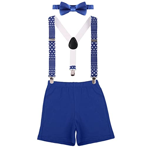 Baby Boys 1st Birthday Cake Smash Outfits Adjustable Y Back Clip Suspenders Bowtie Wedding Party Bloomers Set