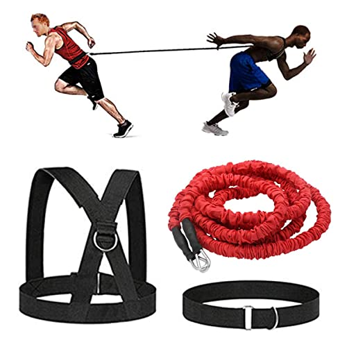33ft Speed Resistance Bungee Band Trainer 360 Dynamic Training w// Waist Band