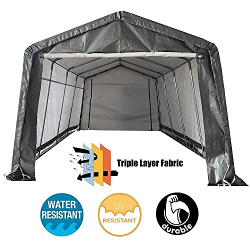 Garage Canopy Side Wall Kit ONLY 10 x 20 Tent Portable White Car Shelter Carport