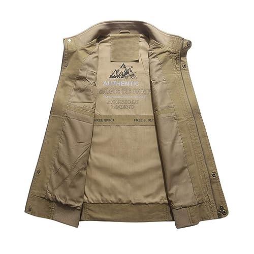 Lavnis Mens Active Cargo Vest Casual Outdoor Pockets Fishing Safari Travel Vests Jacket