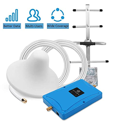 Cell Phone Signal Booster for Verizon AT/&T 4G LTE Home Use Boost Mobile Phone Voice /& Data Signal by Dual 700MHz Band 12//13//17 Repeater Amplifier Kit and Ceiling//Yagi Antennas Up to 3,000Sq Ft