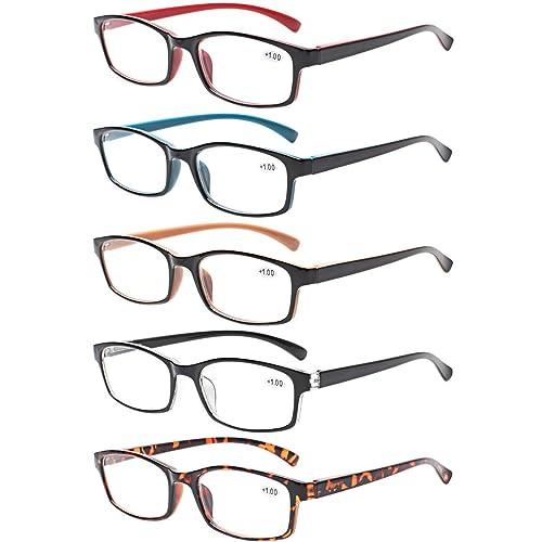 5.00 reading glasses full lens magnification 500 Spring hinge Quality Sun Reader