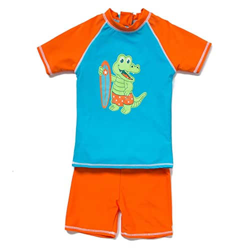 Sun-Protective Nageuret Rashguard Sharks Baby Rash Guard Boys Swim Shirt Swimsuit Sz 6M/–5T