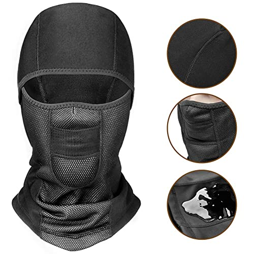 Motorcycling Snowboarding Cold Weather Thermal Fleece Hood Outdoor Sports Gear for Cycling Skiing Windproof Warm Face Mask for Men Women WESTGIRL Balaclava Winter Ski Mask