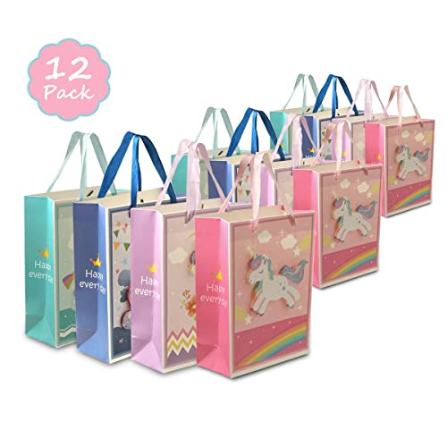 Unicorn Party Favor Bags Treat Bags 12 Pack