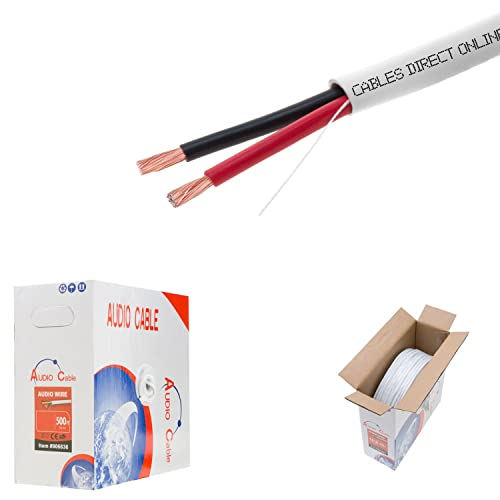 500FT, 16//2 500FT Outdoor UV Protection Rated Professional Speaker Audio Cable 16AWG Direct Burial 16//2 Bulk Spool