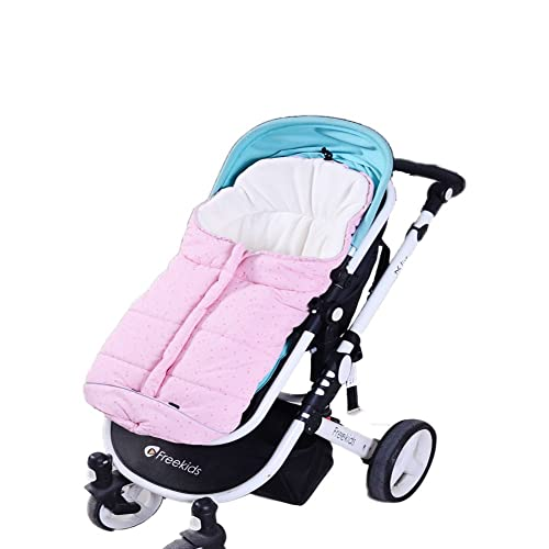 Fairy Baby Universal Baby Stroller Bunting Bag Pushchair Footmuff Sack for 0-6 Months,Pink Dots