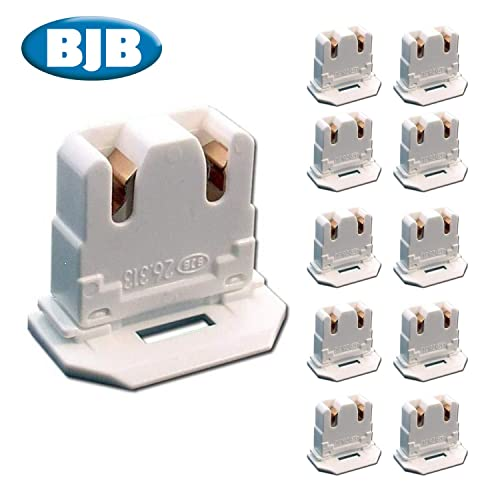 26.422.4009.50 ROTARY BI-PIN WITH REAR SPLIT PINS 10-PACK UL LISTED LH0482 NON SHUNTED T8 SNAP-IN BJB 26.422.1009.50
