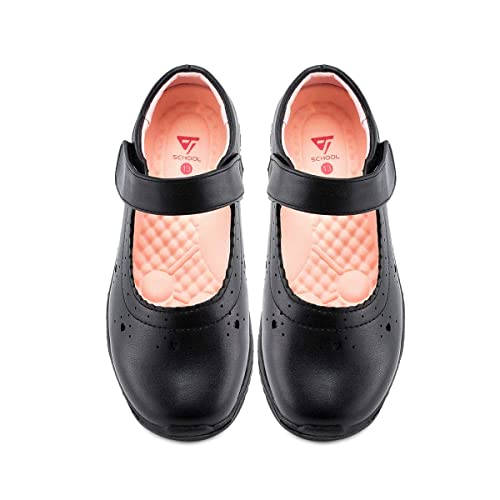 Hawkwell Girl/'s Mary Jane Flat School Uniform shoes Black Dress Oxford Toddler