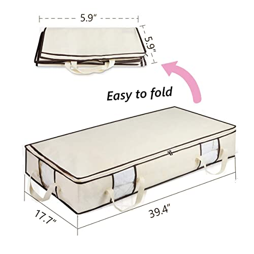 Stockyfy Foldable Underbed Storage Bags Container 2Pack 600D polyester