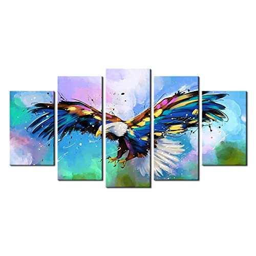 Bald eagles 5PCS HD Canvas Print Home Decor Picture Room Wall Art Paintings