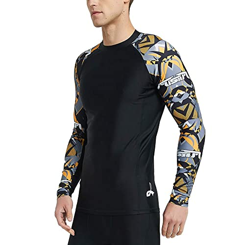 LAFROI Mens Fitness Exercise Quick Dry Compression Shirt
