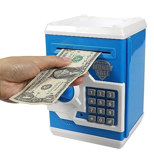 5.9x4.3x4.7inch ArtBones Piggy Bank Child Ceramic Pig Piggy Banks Money Bank Coin Bank Gift for Boys Kids Girls Small Size Blue