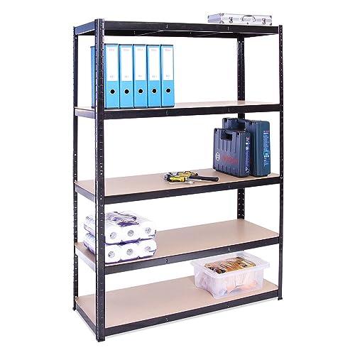 Garage Shed Racking 180Cm X 90Cm X 60Cm Deep 5 Tier 175KG Per Shelf 875KG Total