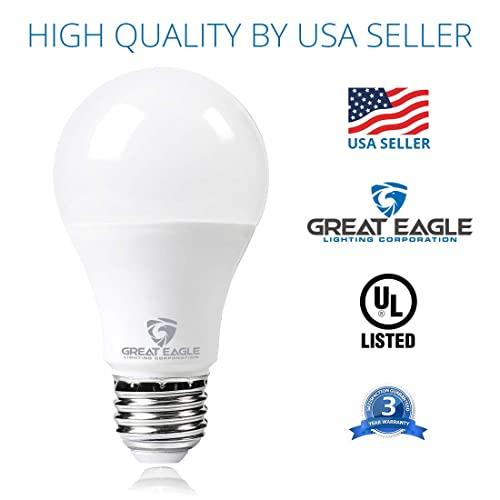 Bright White Great Eagle 200W Replacement A19//A21 LED Bulb 3000K 2610 Lumens