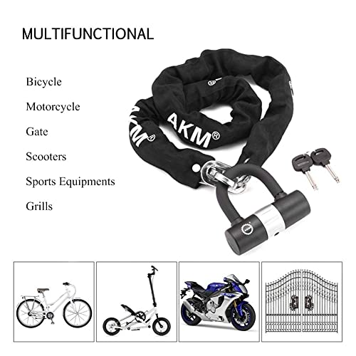 """1.1m CROPS Rydeen Pro Bike Chain Lock Bicycle Chain Lock Japanese Designed Hardened Metal Heavy Duty with Key 43/"""""""