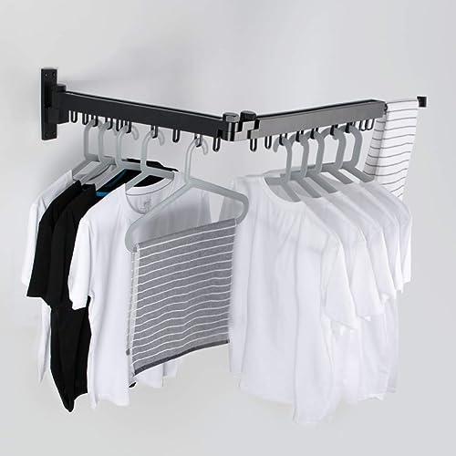 Retractable Laundry Garment Hanger, How To Put Coat Hanger On Wall