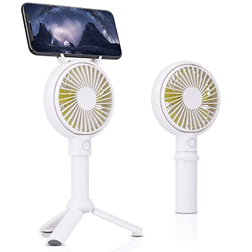 Uplord Mini USB Rechargeable Handheld Fan Personal Portable Desk Stroller Table Fan,Folding Electric Fan for Office Room,Outdoor and Traveling