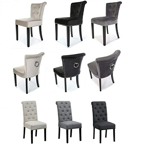 Amazing Buy Vanimeu Velvet Dining Chairs Knocker Back Tufted Gamerscity Chair Design For Home Gamerscityorg