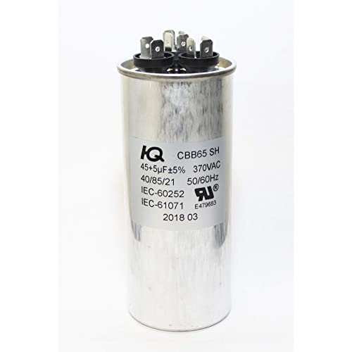 5 uf // Mfd 370 // 440 VAC AmRad Round Dual Universal Capacitor Amana CAP050450440CT Replacement 45 Made in the U.S.A.