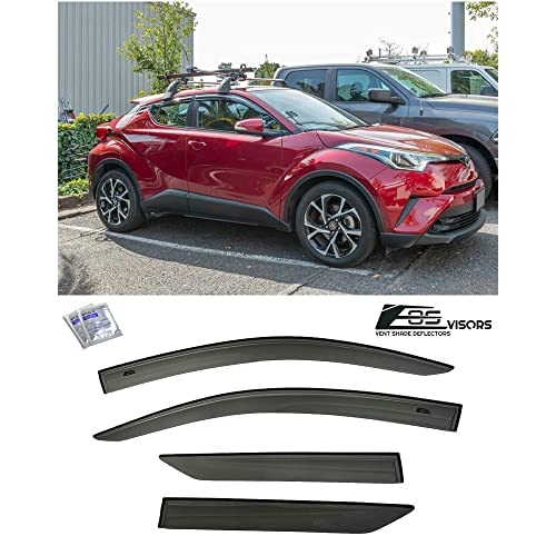EOS Visors JDM Mugen Style Smoke Tinted Side Vents Rain Guard Window Deflectors Extreme Online Store Replacement for 2016-2019 Mazda CX-3