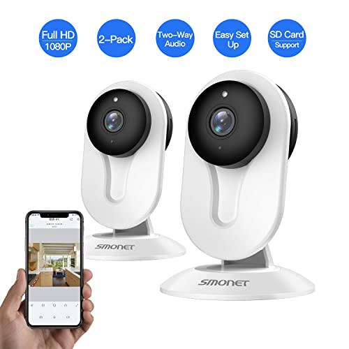 Wireless Security Camera System 2 Pack WiFi Night Vision Home Business App Alexa