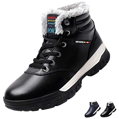 Men/'s Snow Warm Winter Fur Lined Shoes Waterproof Hiking Outdoor Boot Plus size
