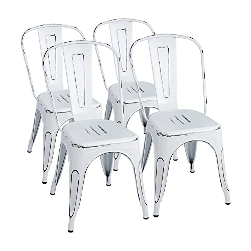 Fabulous Buy Furmax Metal Chairs Indoor Outdoor Use Stackable Chic Bralicious Painted Fabric Chair Ideas Braliciousco