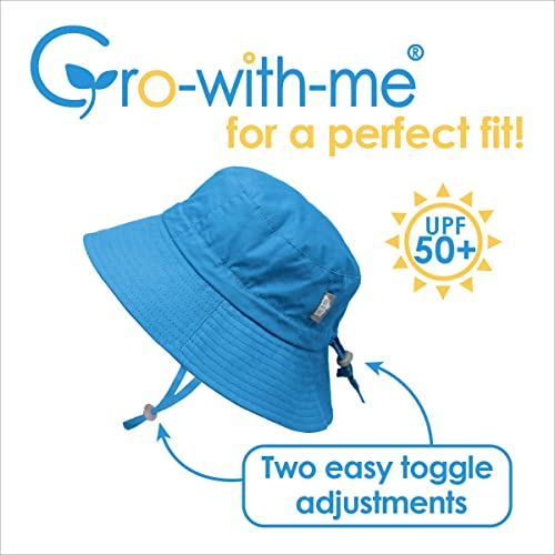 for Baby Toddler Girls Adjustable for Growth with Strap JAN /& JUL Kids 50+UPF Cotton Sun-Hat