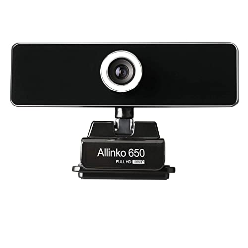 Plug and Play Webcams USB Web Camera with Microphone Compatible with Windows 10 8 7 XP Mac OS X Allinko 550 Webcam 1080P Full HD Skype Webcams for Laptop PC iMac MacBook Pro