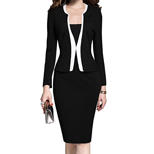 MUSHARE Womens Formal Office Business Work Business Party Bodycon One-Piece Dress