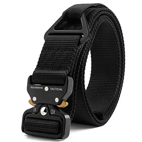 "Tactical Heavy Duty Belt SANSTHS Men Military Webbing Belt 1.5/"" Quick-Release..."