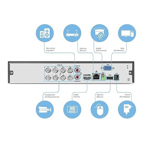 Amcrest HD 1080-Lite 8CH Video Security Camera System 1TB HDD AMDVTENL8-4B-B