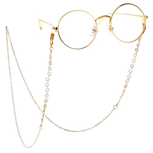 Reading Glasses Strap Women Neck Strap Holder Sunglasses Retainer Lanyard KAI Top Stainless Steel Eyeglass Chain and Cords