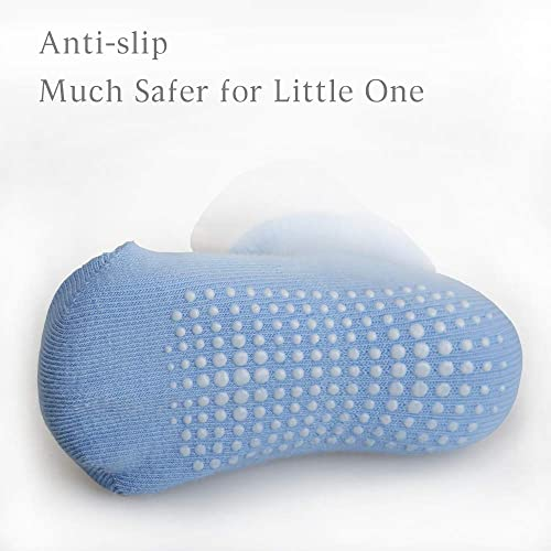 Gripjoy Lil Grippers Grip Socks for Infants Toddlers Babies Kids Boys Girls 4pk