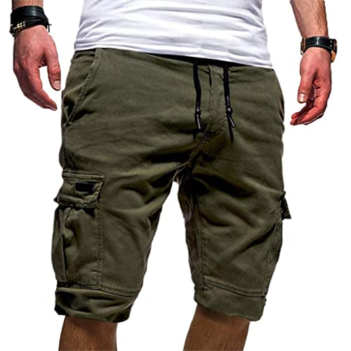 Allywit Summer Shorts Summer Casual Cargo Shorts Pants Men Beach Shorts Running or Gym Plus Size