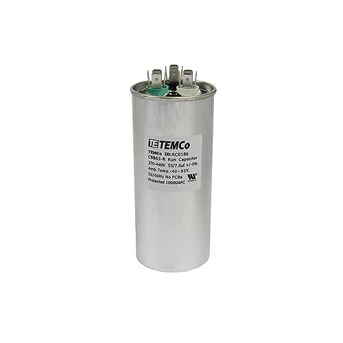 ICP 1149999 5x 80//7.5 MFD 370 Volt Dual Round Run Capacitor for GE 27l522