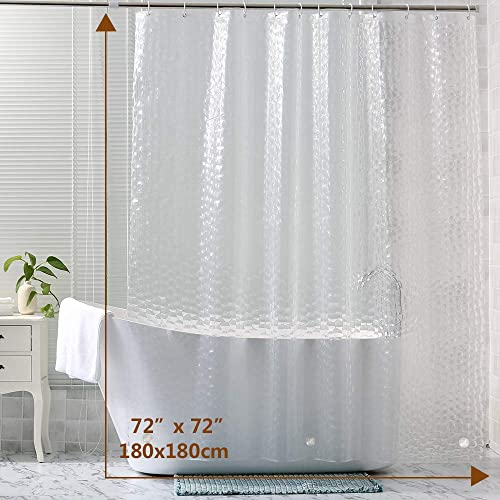 Perfect for Bathroom Stall Bathtub Tub Machine Washable Wimaha Fabric Shower Curtain Liner Water-Resistant Beige 100/% Polyester 72x72