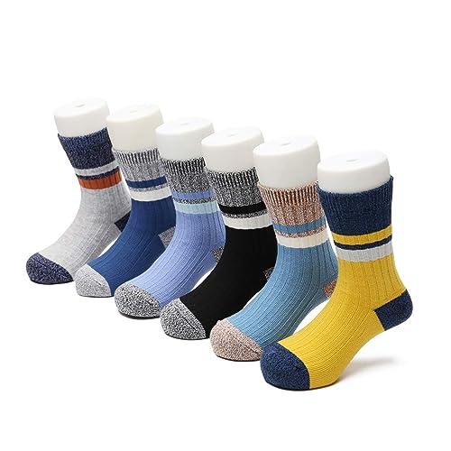 5 Pairs 80/% Cotton Kids Toddler Big Little Girls Fashion Crew Seamless Socks