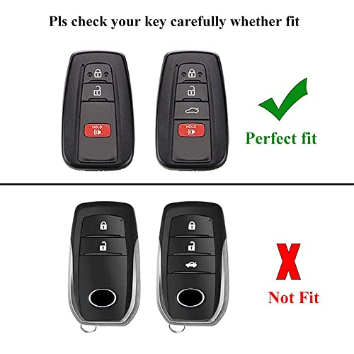 121Fruit Way for Toyota Key Fob Cover Premium Soft TPU 360 Degree Protection Key Case Compatible with 2018 2019 2020 Toyota Camry RAV4 Avalon C-HR Prius Corolla Smart Key -Blue only for Keyless go