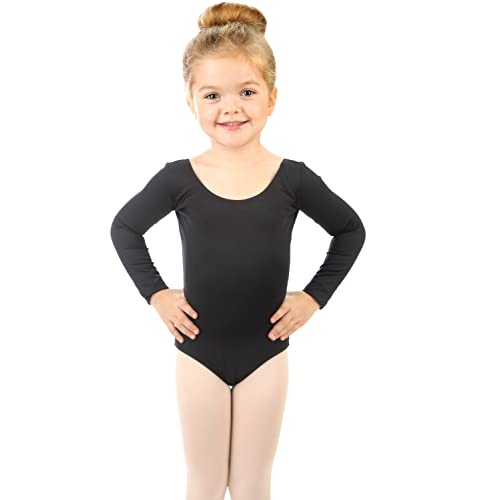 Variety of Colors Leveret Kids Girls Skirt Leotard Long Sleeve Size Toddler-X-Large 2-14 Years