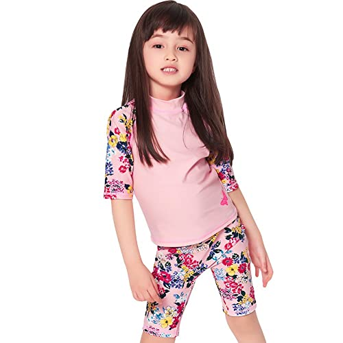Sun Protection Bathing Suits Karrack Girls and Boy One Piece Rash Guard Swimsuit Kid Water Sport Short Swimsuit UPF 50