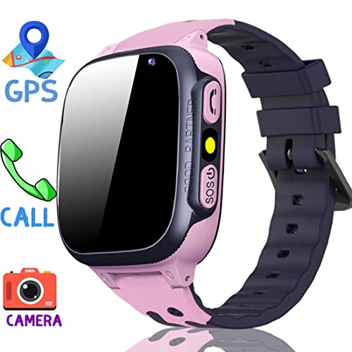 MiKin Children Smart Watches for Girls Boys Age 3-12 Kids Smartwatch Phone  with GPS Tracker 2 Way Call SOS Remote Camera Touch Screen Alarm Clock