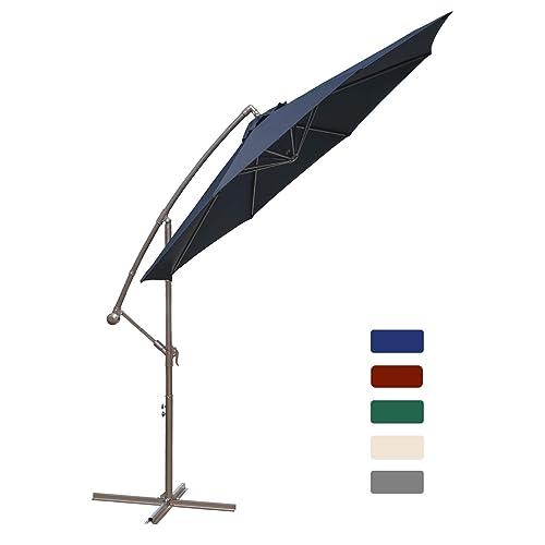Vegond Offset Patio Umbrella 10ft, 10 Ft Cantilever Patio Umbrella
