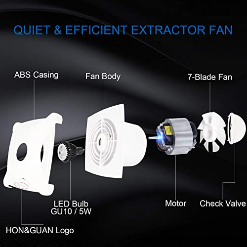 150mm Bathroom Fan Ceiling And Wall Mount Inline Duct Exhaust Fan 201m H A 150mm Hon Guan Silence Ventilation Extractor Fans 6inch Bathroom Hardware Hardware