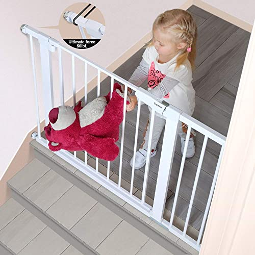 "Cumbor 43.5/""Auto Close Safety Baby Gate,Extra Tall and Wide Child Gate,Easy Walk"